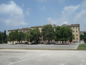 Ex military buildings, now center for civil initiatives, Karlo Rojc in Pula